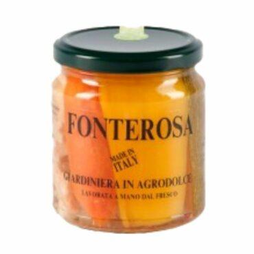 italiaanse groenten - giardiniera in agrodolce - groenten in zoet zuur - fonterosa - piemonte